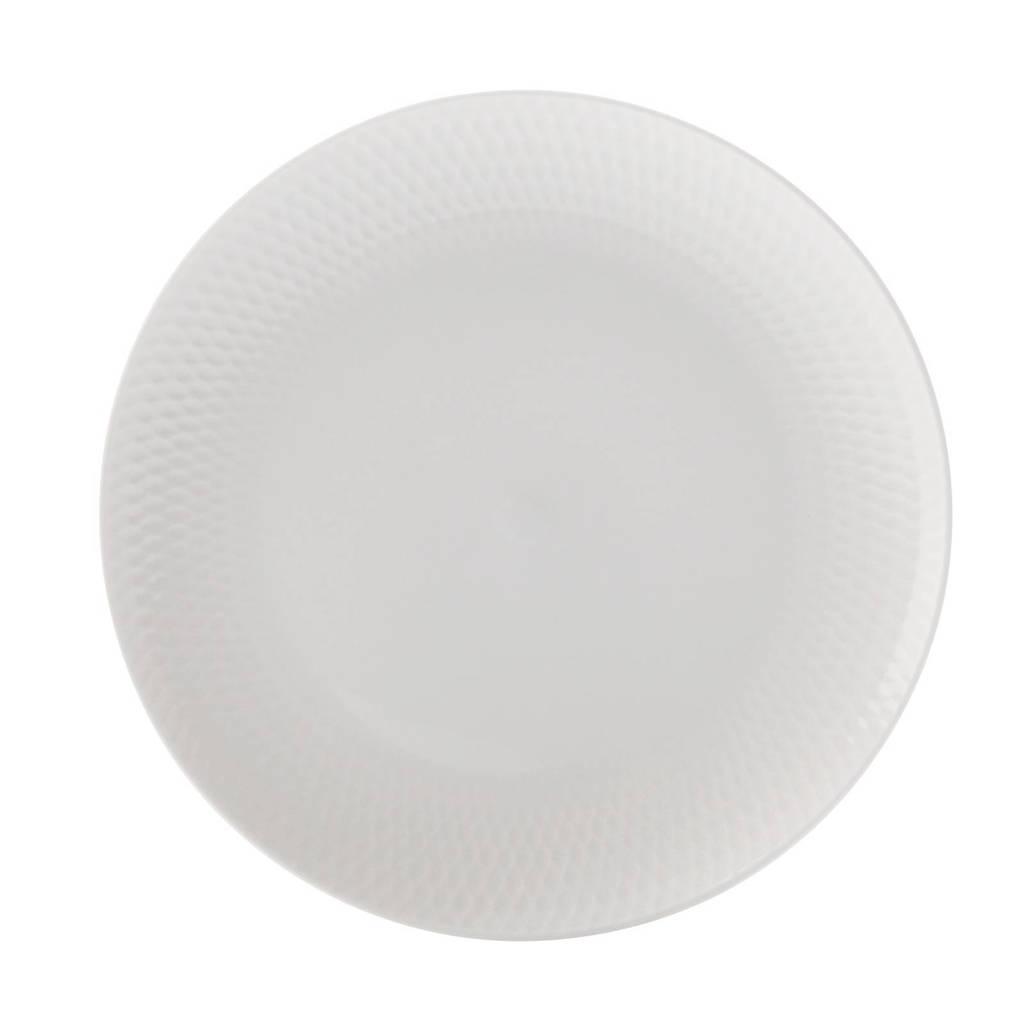 Maxwell & Williams Diamonds Round gebaksbord (Ø15 cm) (set van 2), Wit