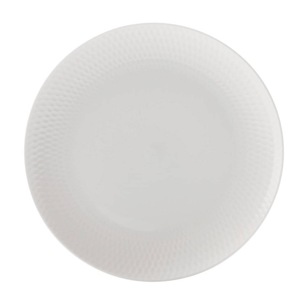 Maxwell & Williams Diamonds Round gebaksbord (Ø18 cm) (set van 2), Wit