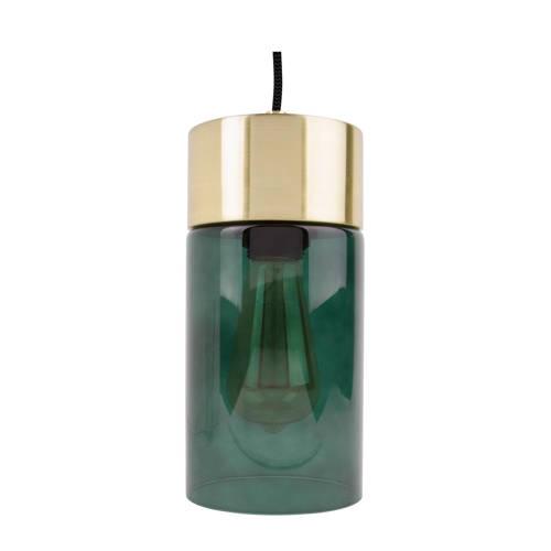 Hanglamp Lax Groen glas Goud Incl. lichtbron Leitmotiv