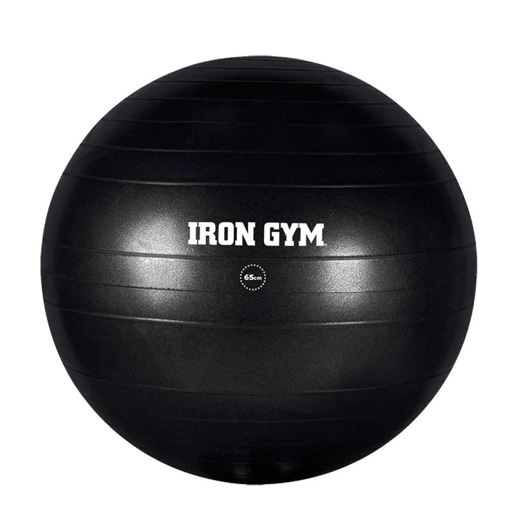 Iron Gym Essential met pomp fitness bal (55 cm)  incl. pomp, Zwart