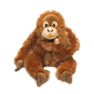 orang utan moeder en kind knuffel 25 cm