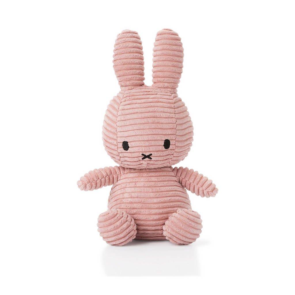nijntje Corduroy roze knuffel 24 cm, Lichtroze