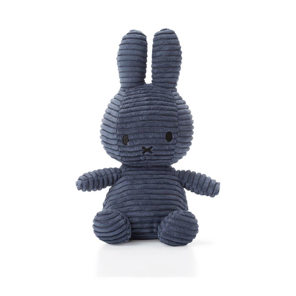 nijntje Corduroy donkerblauw knuffel 24 cm, Donkerblauw