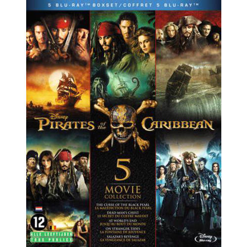 Pirates of the Caribbean 1-5, (Blu-Ray). BLURAY