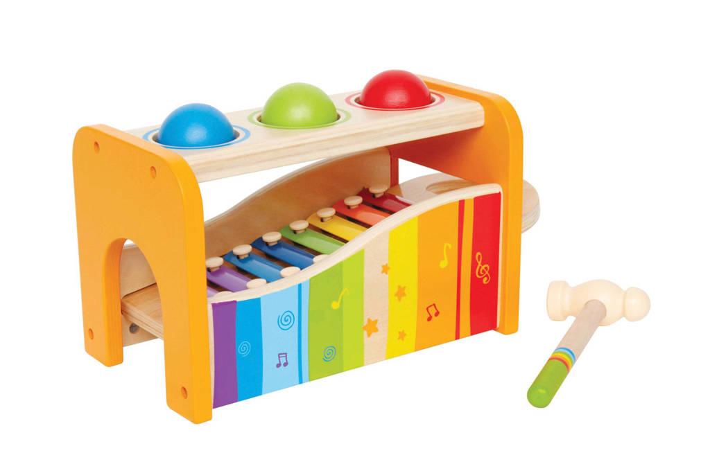 Hape houten Early Melodies hamerbank en xylofoon