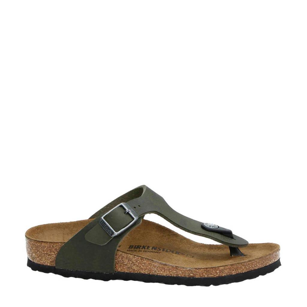 Birkenstock   Gizeh slippers, Olijfgroen