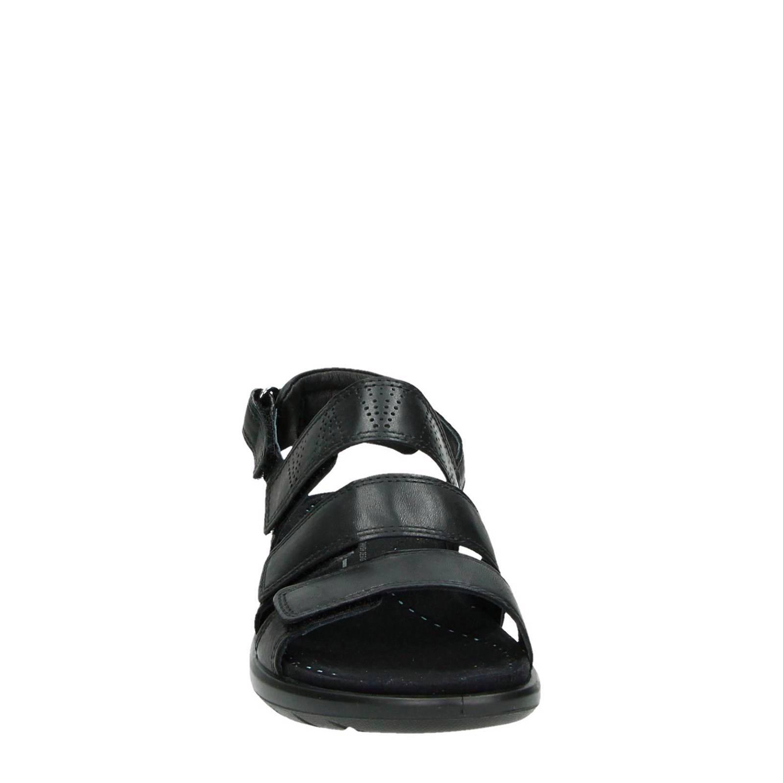 Ecco Soft 5 leren sandalen | wehkamp
