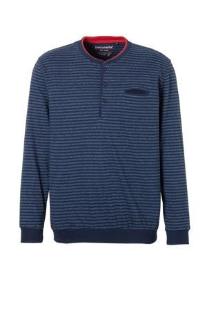 gestreepte pyjamatop marine/blauw