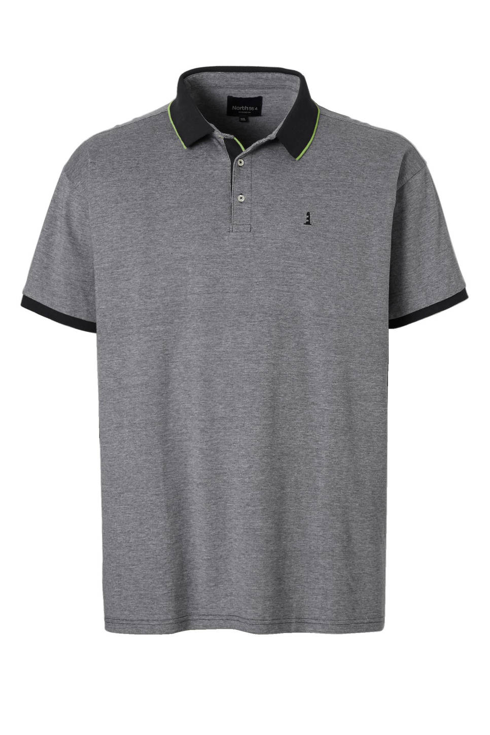 North 56°4 +size polo, Zwart