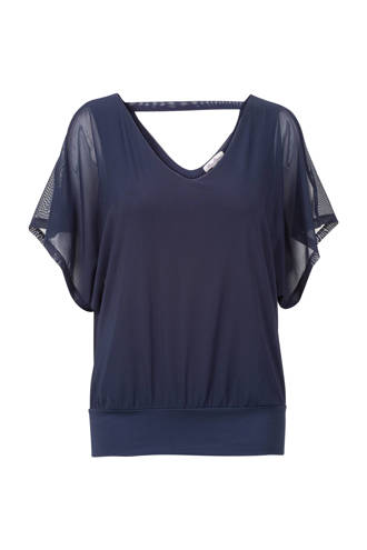 Regulier open shoulder top