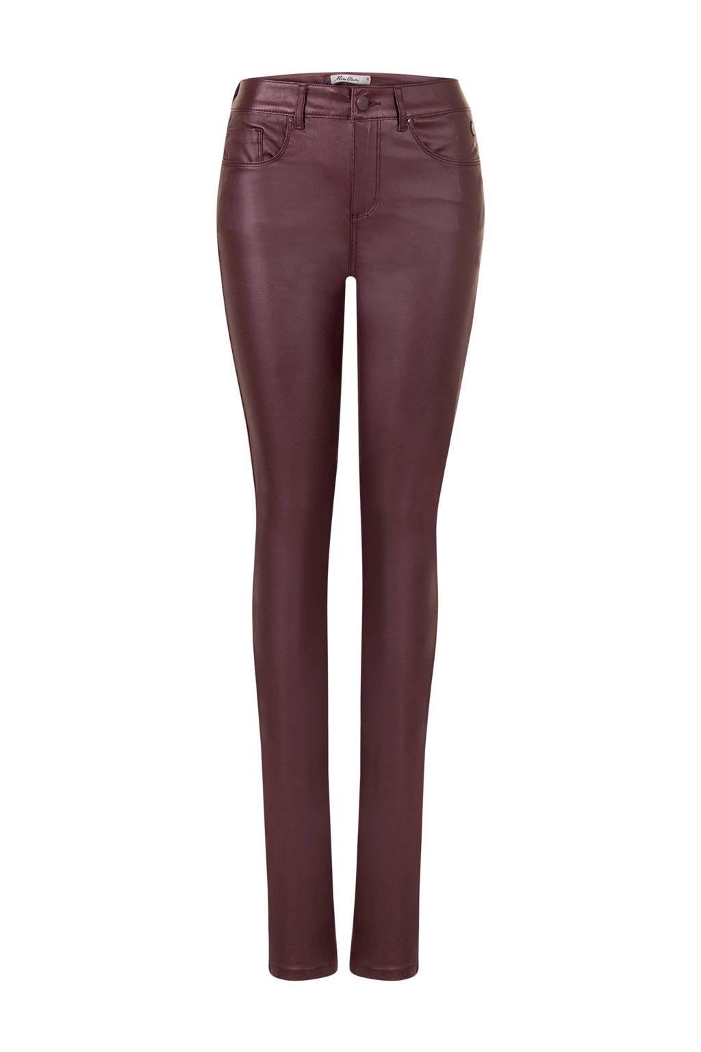Miss Etam Lang coated slim fit broek 36 inch, Donkerrood