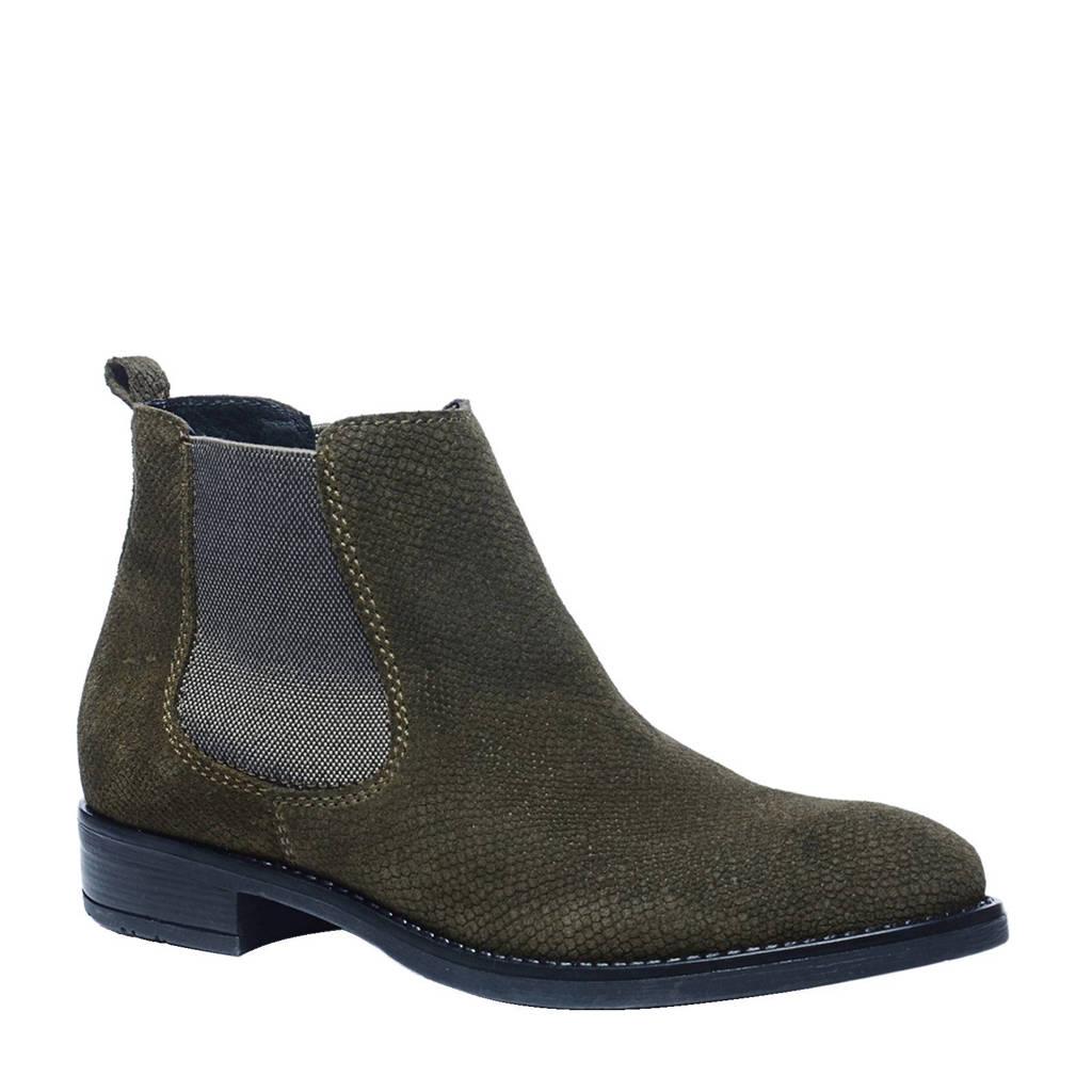 Sacha leren chelsea boots, Donkergroen