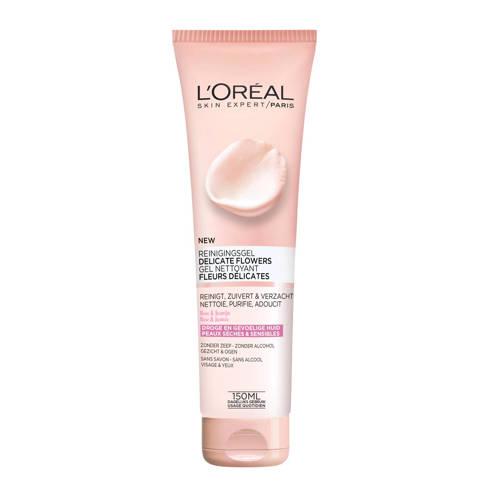 L'Oréal Paris Skin Expert Delicate Flowers - gevoelige en droge huid - 150ml - Reinigingsgel
