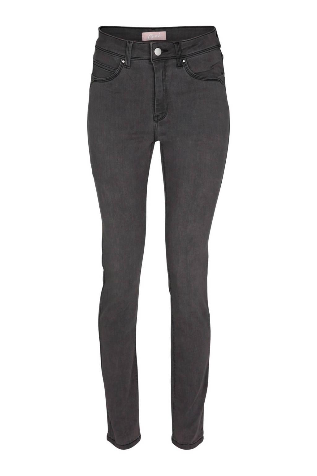 Cassis skinny fit jeans, Grijs