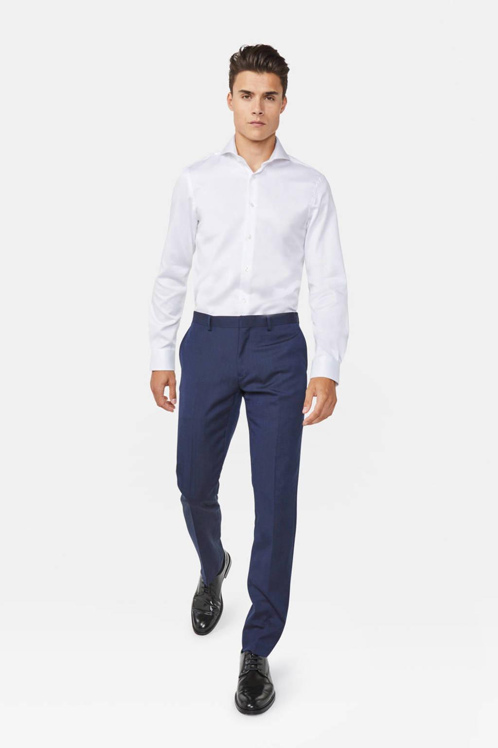 WE Fashion slim fit overhemd, Wit