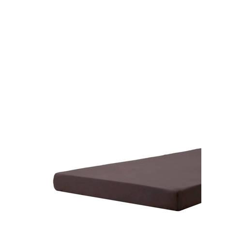 Hoeslaken topper  perkalkatoen antraciet 080-090x200x01 Beddinghouse