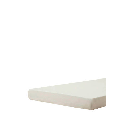 Hoeslaken topper  perkalkatoen offwhite 080-090x200x Beddinghouse