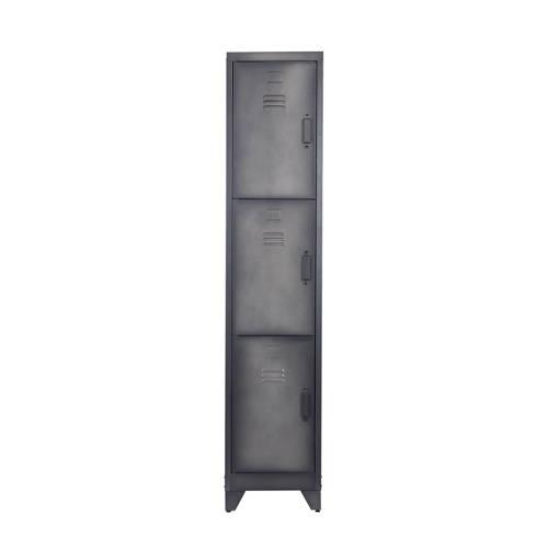 Lockerkast Cas 3 deurs Metaal Zwart Woood