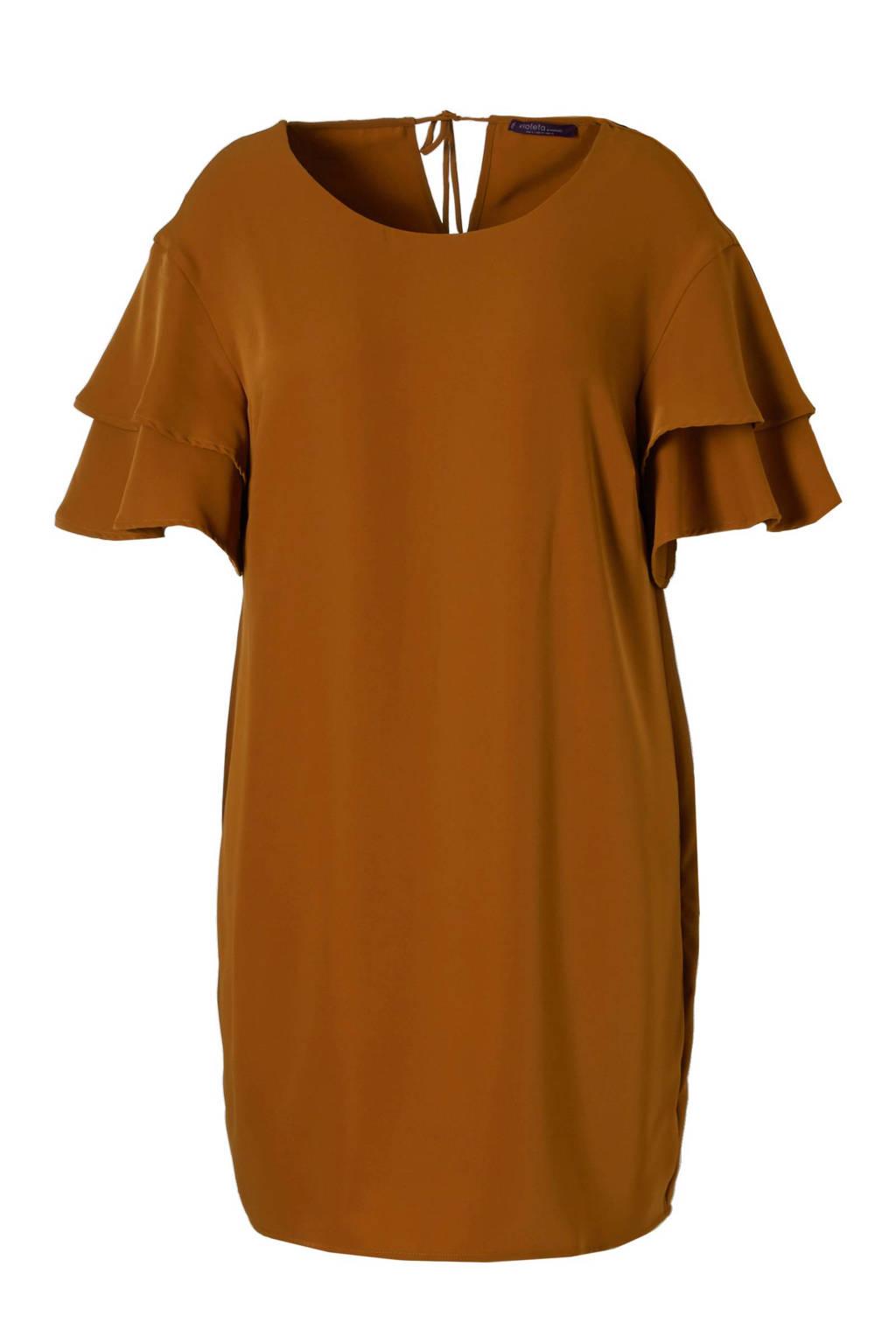 Violeta by Mango jurk met volantmouwen, Brique