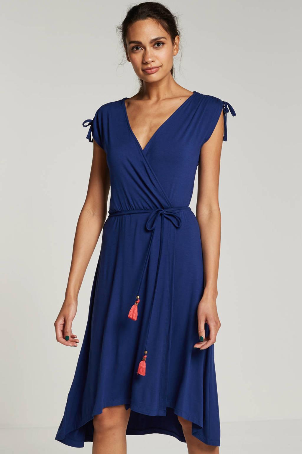 whkmp's beachwave jurk met overslag, Blauw
