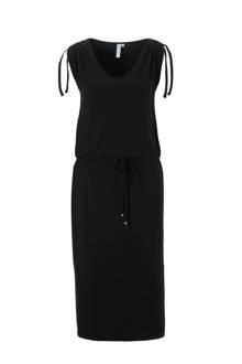 midi jurk met elastische tailleband
