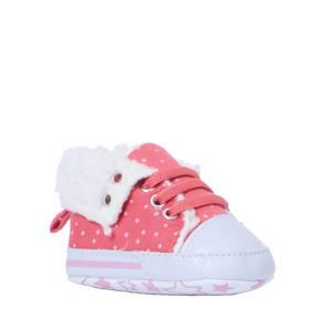 babyschoenen stippenprint roze