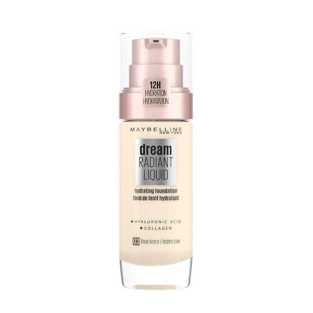 Maybelline New York  Dream Radiant Liquid Foundation - 3 True Ivory