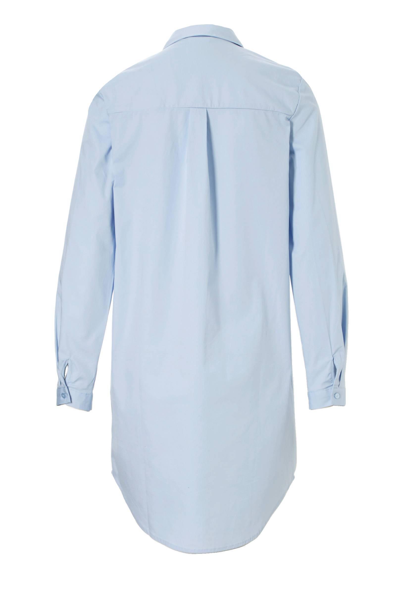 lange blouse lichtblauw