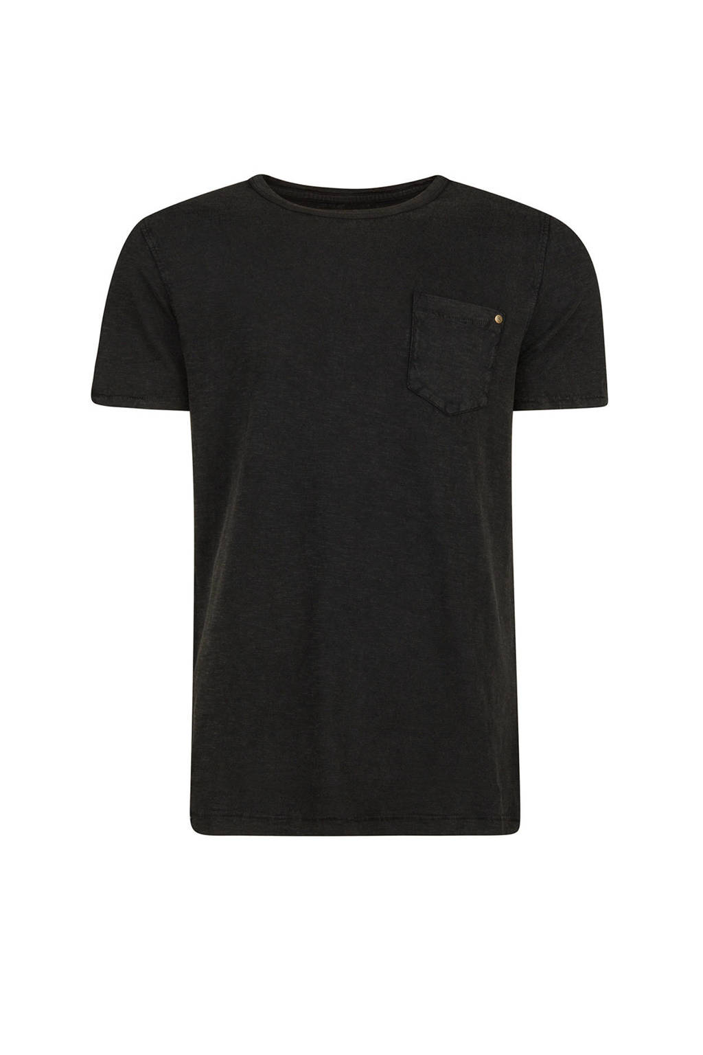 WE Fashion regular fit T-shirt, Antraciet