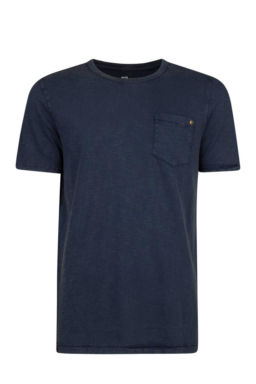 WE Fashion regular fit T-shirt, Blauw