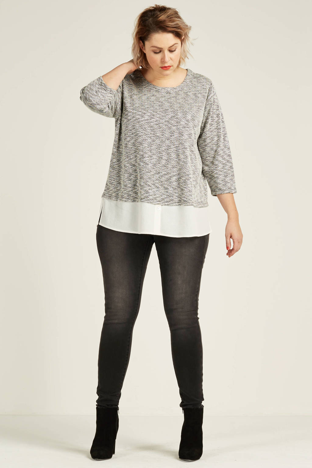 whkmp's great looks superstretch skinny fit jegging, Grijs