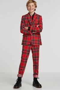 Opposuits The Lumberjack jongens kostuum + clipdas, Rood/zwart/geel/wit