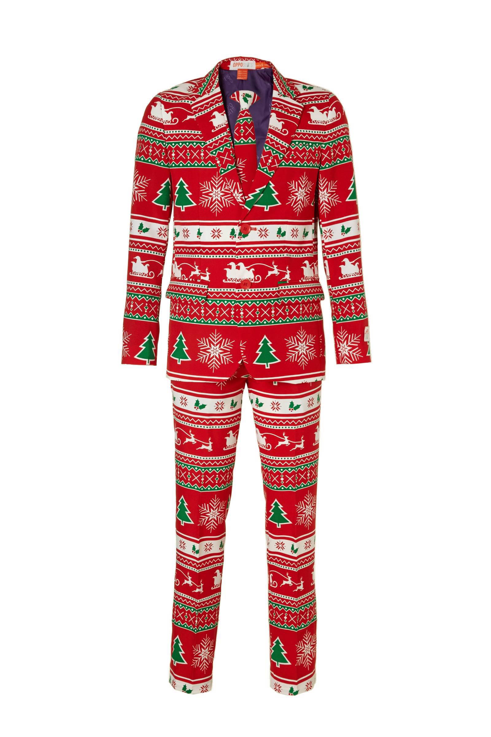 Opposuits Winter Wonderland kostuum + clipdas (jongens)