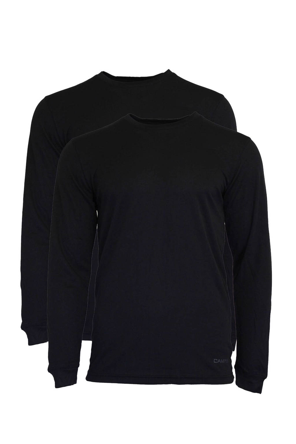 Campri thermo T-shirt (set van 2), Zwart