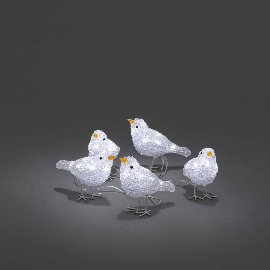 Konstsmide verlichtingssnoer vogeltjes, Wit