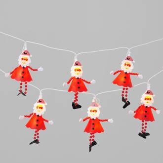 lichtsnoer (10 kerstmannetjes)