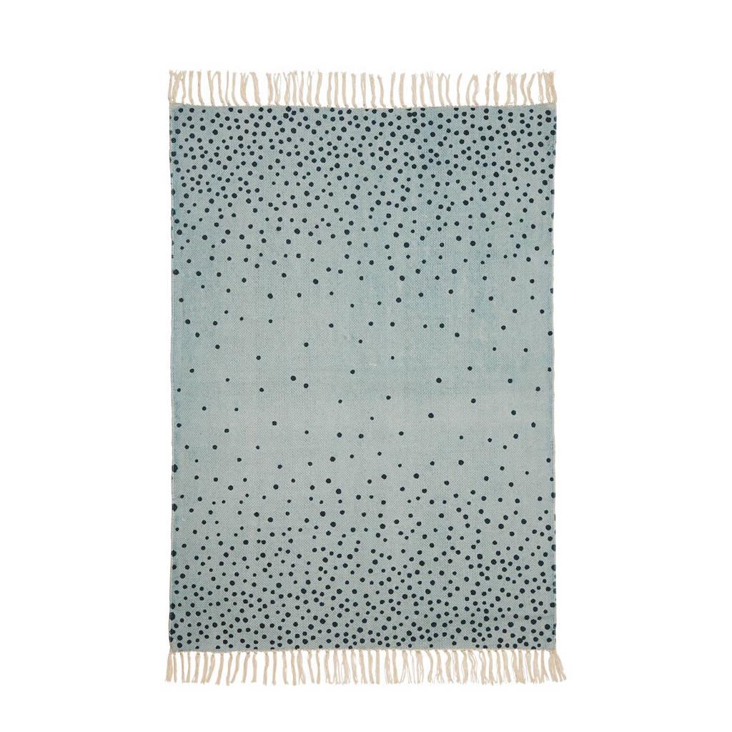 Done by Deer vloerkleed blauw  (90x120 cm), Blauw