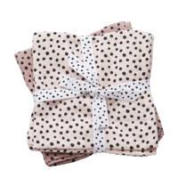 Done by Deer happy dots hydrofiel luier 120 x 120 cm roze (2 stuks), Roze