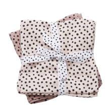 happy dots hydrofiel luier 120 x 120 cm roze (2 stuks)