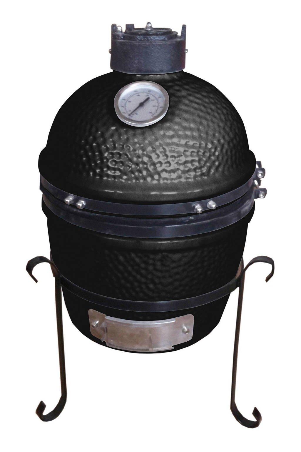 Patton Kamado Grill 13'' houtskoolbarbecue, Zwart