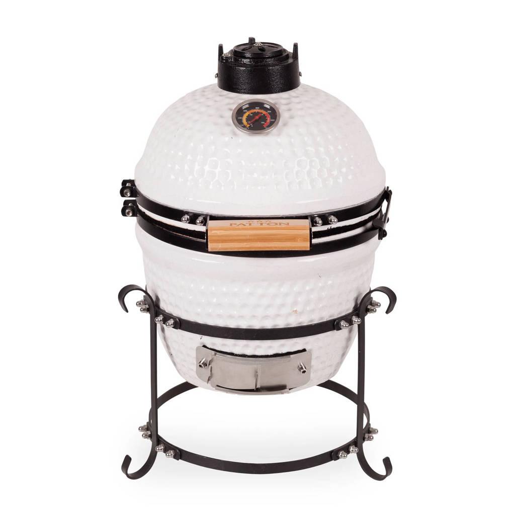 Patton Kamado Grill 13'' houtskoolbarbecue, Wit