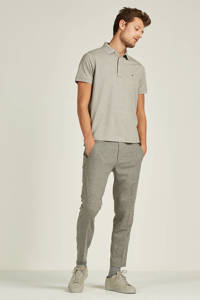Tommy Hilfiger slim fit polo, Grijs melange