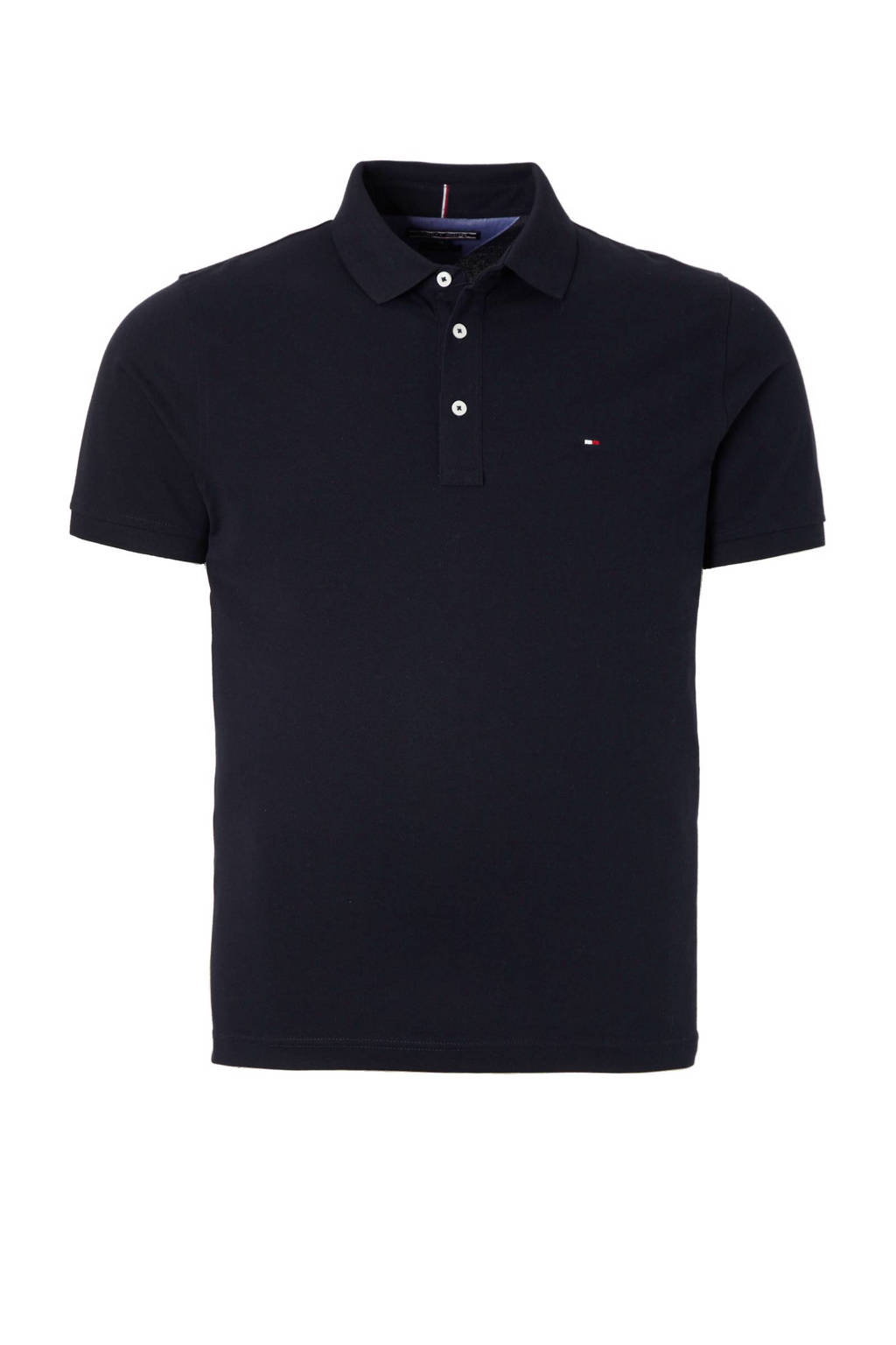 Tommy Hilfiger slim fit polo, Donkerblauw