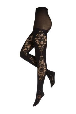 Gisy - Lace Panel Tights panty 60 denier +size