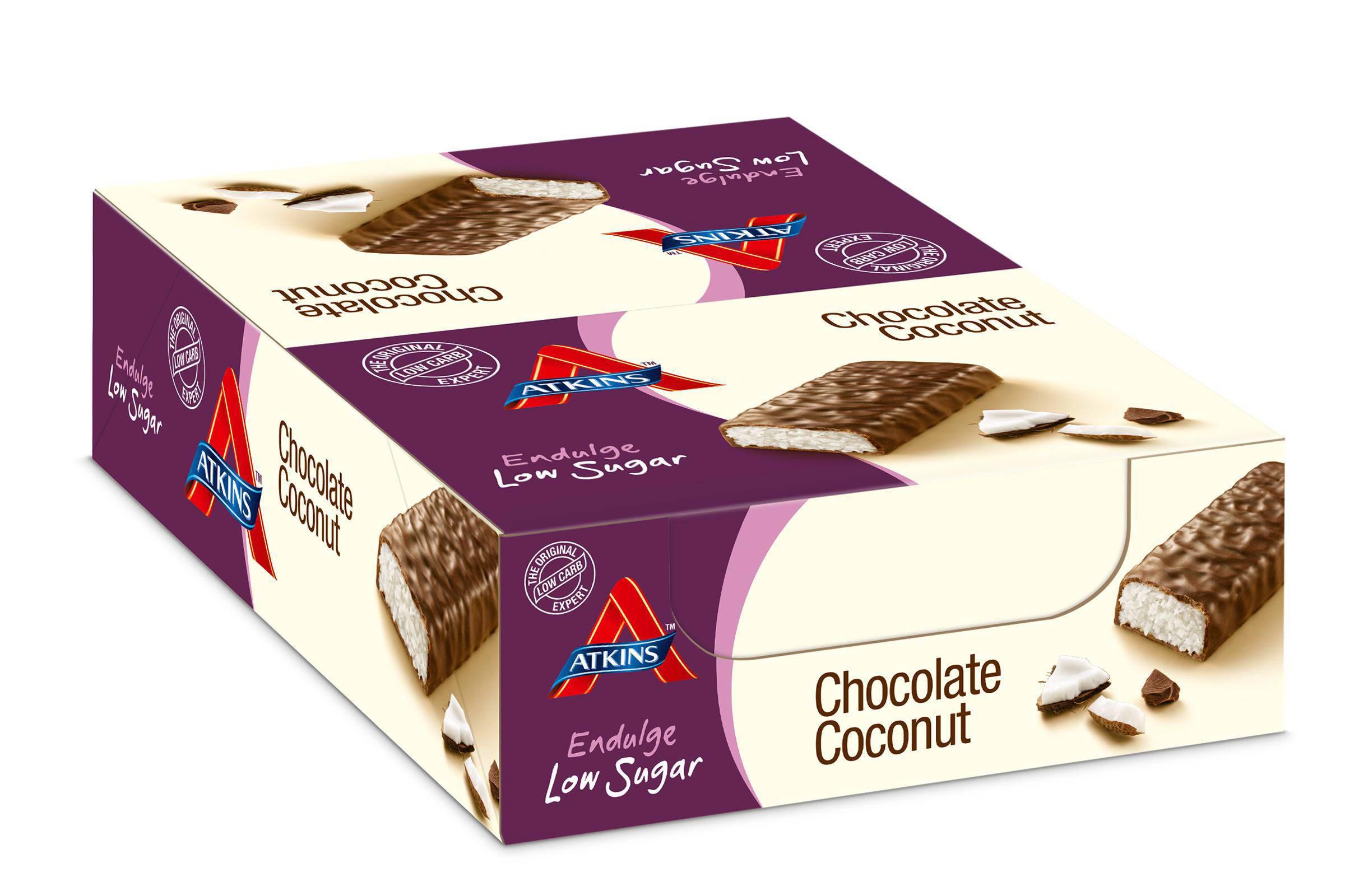 Atkins Endulge Kokosnoot Chocolade repen - 13 + 2 gratis