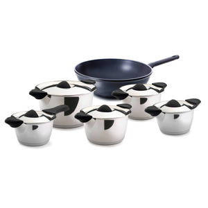 Q-linair Classic pannenset 5-delig + easy induction wok
