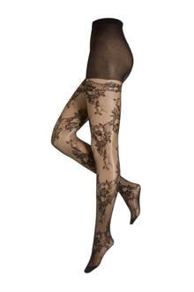 Emi - Mock Lace Top Hold Up panty 40 denier +size