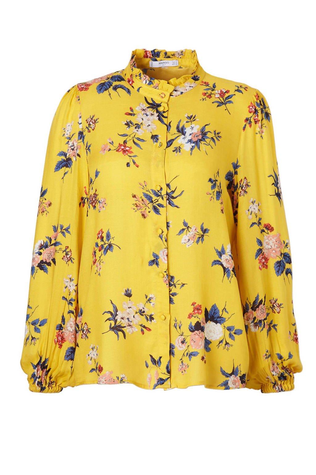Mango blouse, Geel