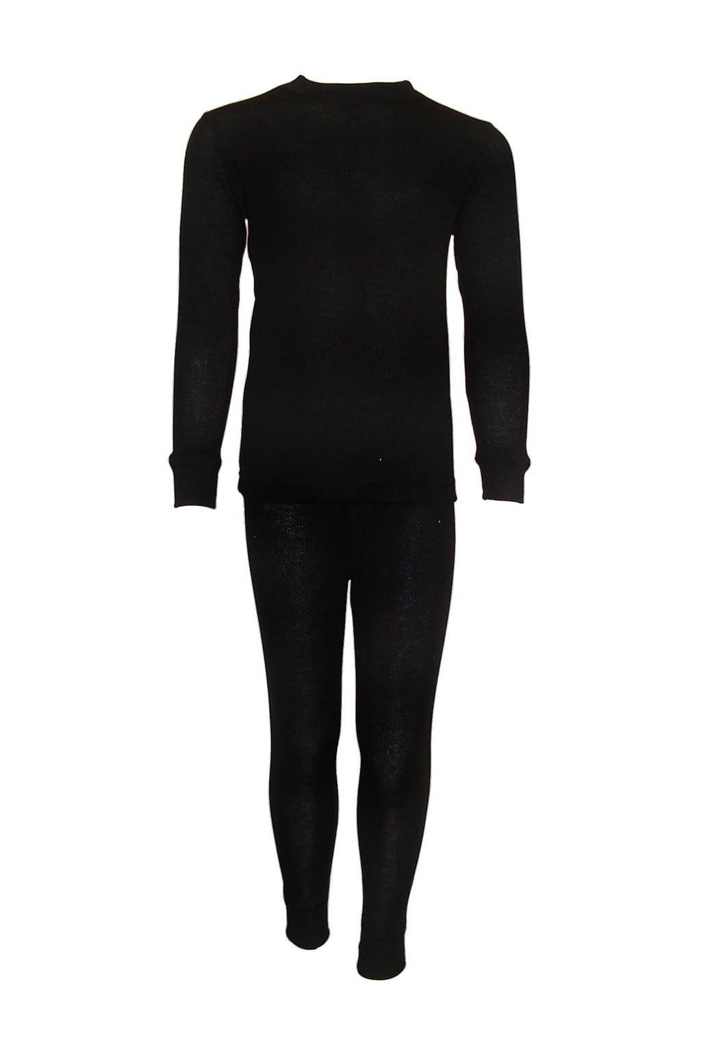 Campri thermo shirt + thermo broek, Zwart