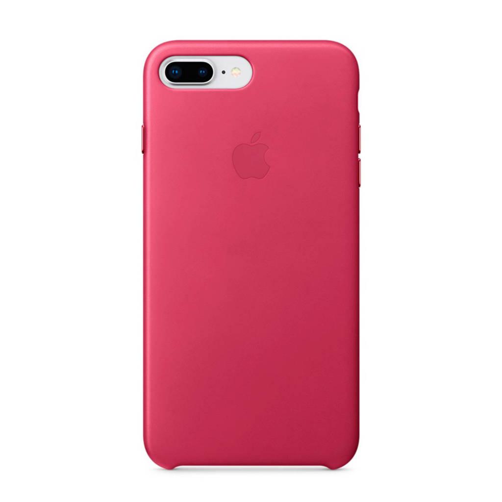 Apple iPhone 8 Plus / 7 Plus leren backcover, Fuchsiaroze